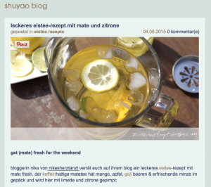 shuyao, tee, blog, nikesherztanzt