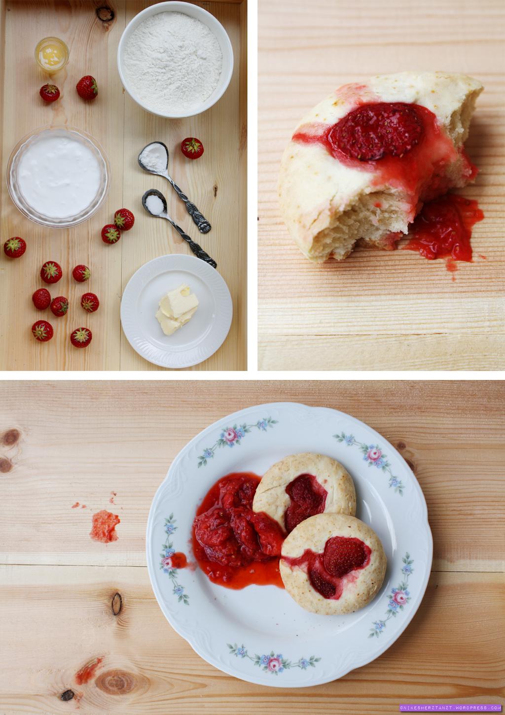 erdbeer scones mit erdbeermus