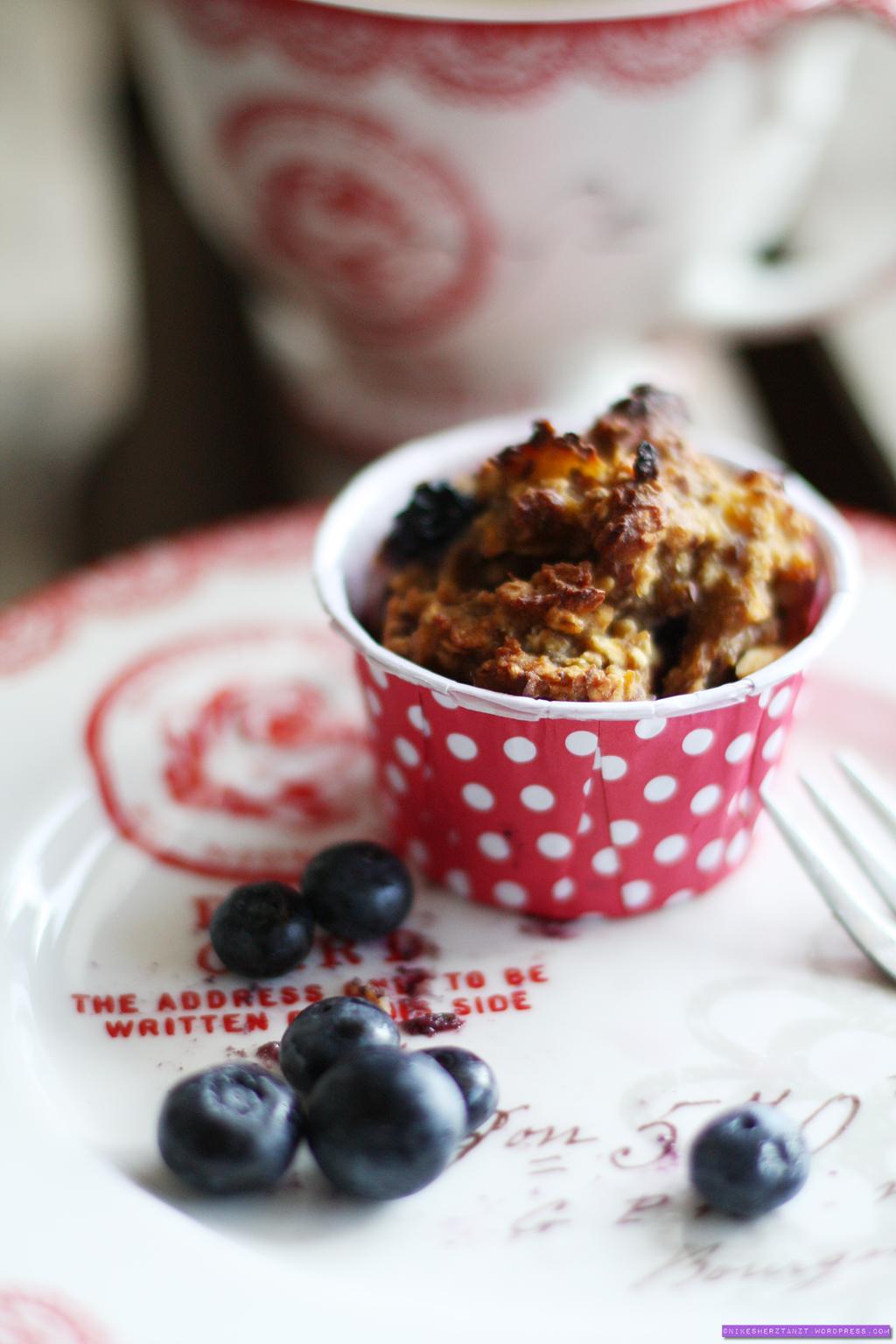 pumpkin chai spice oatmeal blueberry muffins