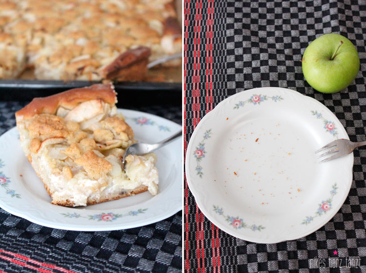 apfelkuchen mit walnüssen und cranberries, apfel, kuchen, blechkuchen, food, blog, nikesherztanzt