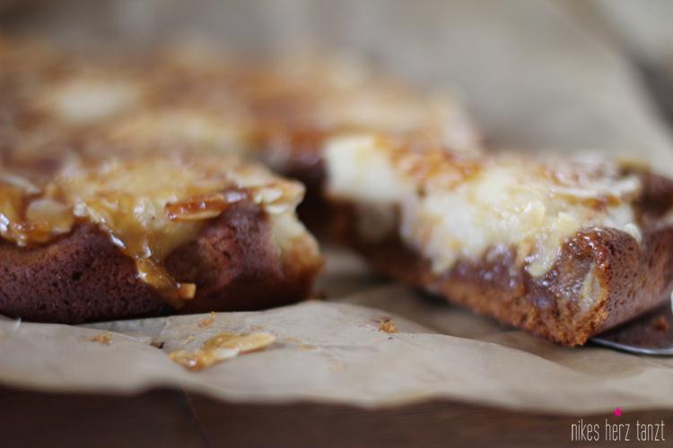 karamell-apfel-kuchen, apfelkuchen, vegan, nikesherztanzt