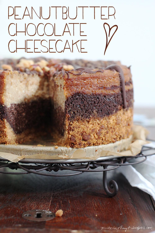 vegan peanutbutter chocolate cheesecake. // http://nikesherztanzt.de/