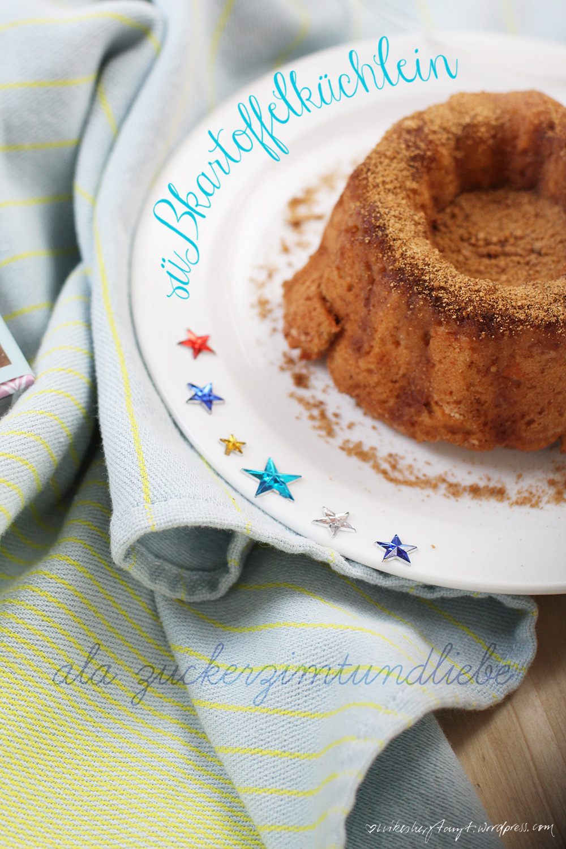 süßkartoffelküchlein mit zucker-zimt- und liebe-kruste.