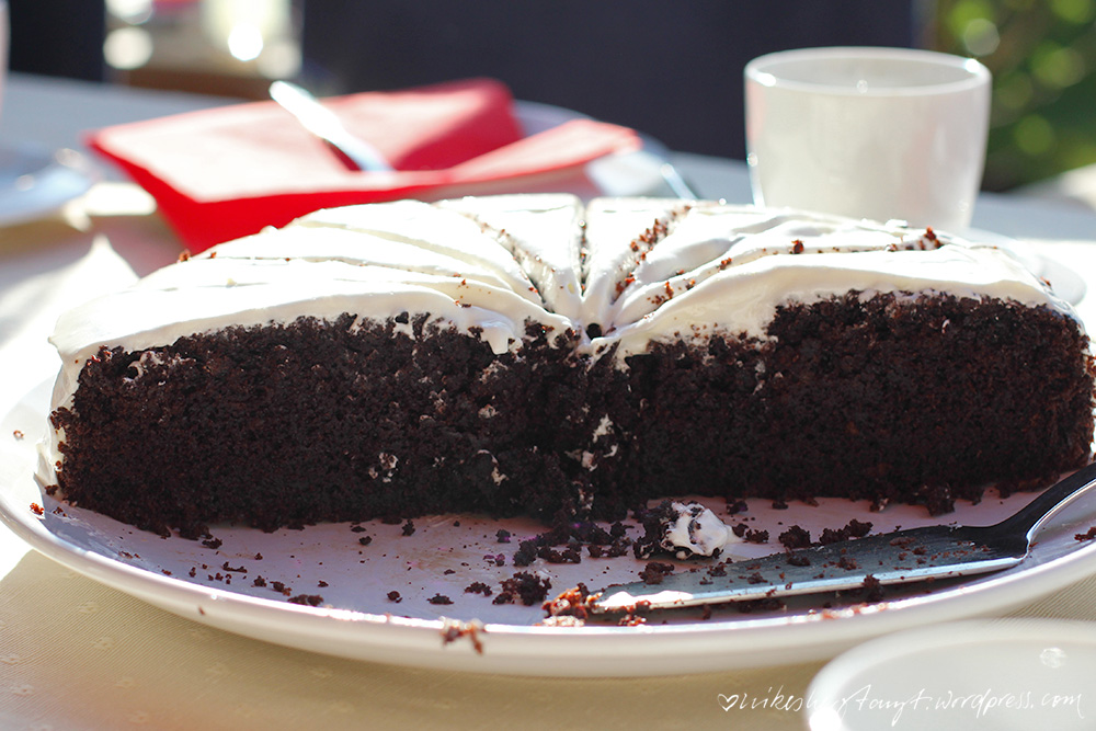 guinness chocolate cake mit jeder menge sonne. // https://nikesherztanzt.de