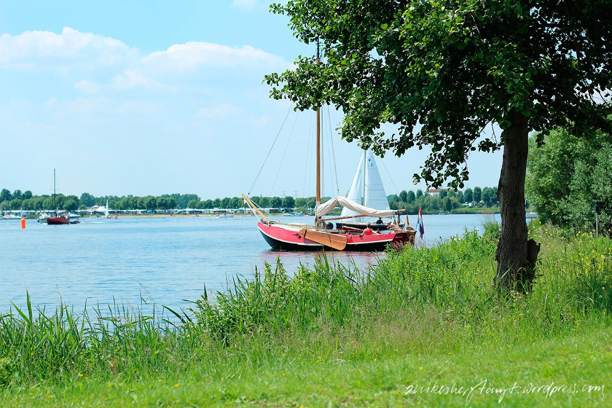 segeln auf den maasseen, roermond, maas, sommer, sonne, himmelblau, niederlande, holland, nikes herz tanzt