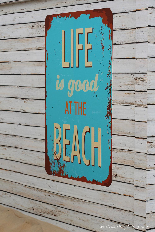 life is good at the beach, geburtstag am meer, belgien, de haan, nordsee,