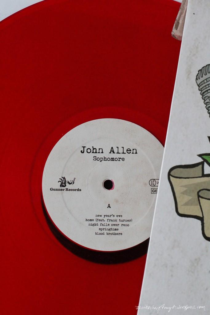john allen, sophomore, vinyl, plattenliebe, musik