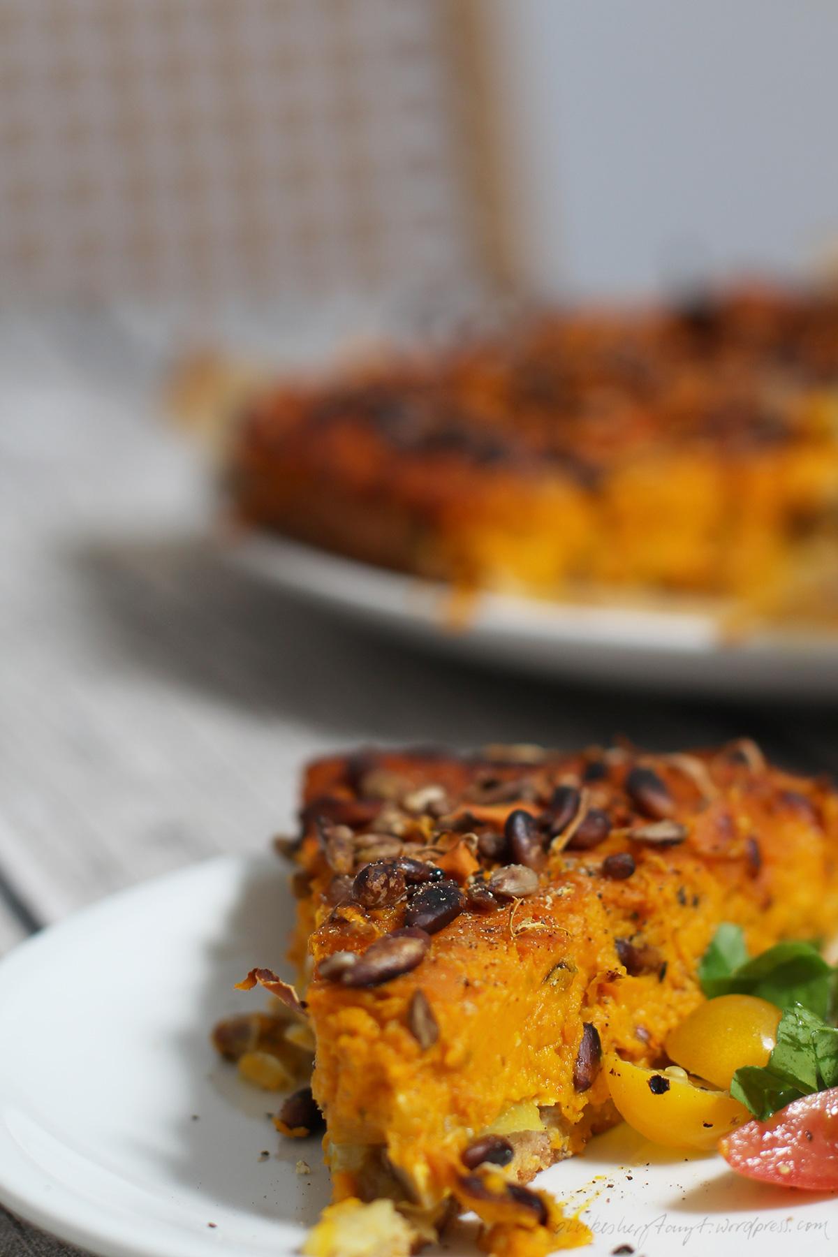 zucchini-kürbis-quiche, vegan, #halloherbst14, nikesherztanzt