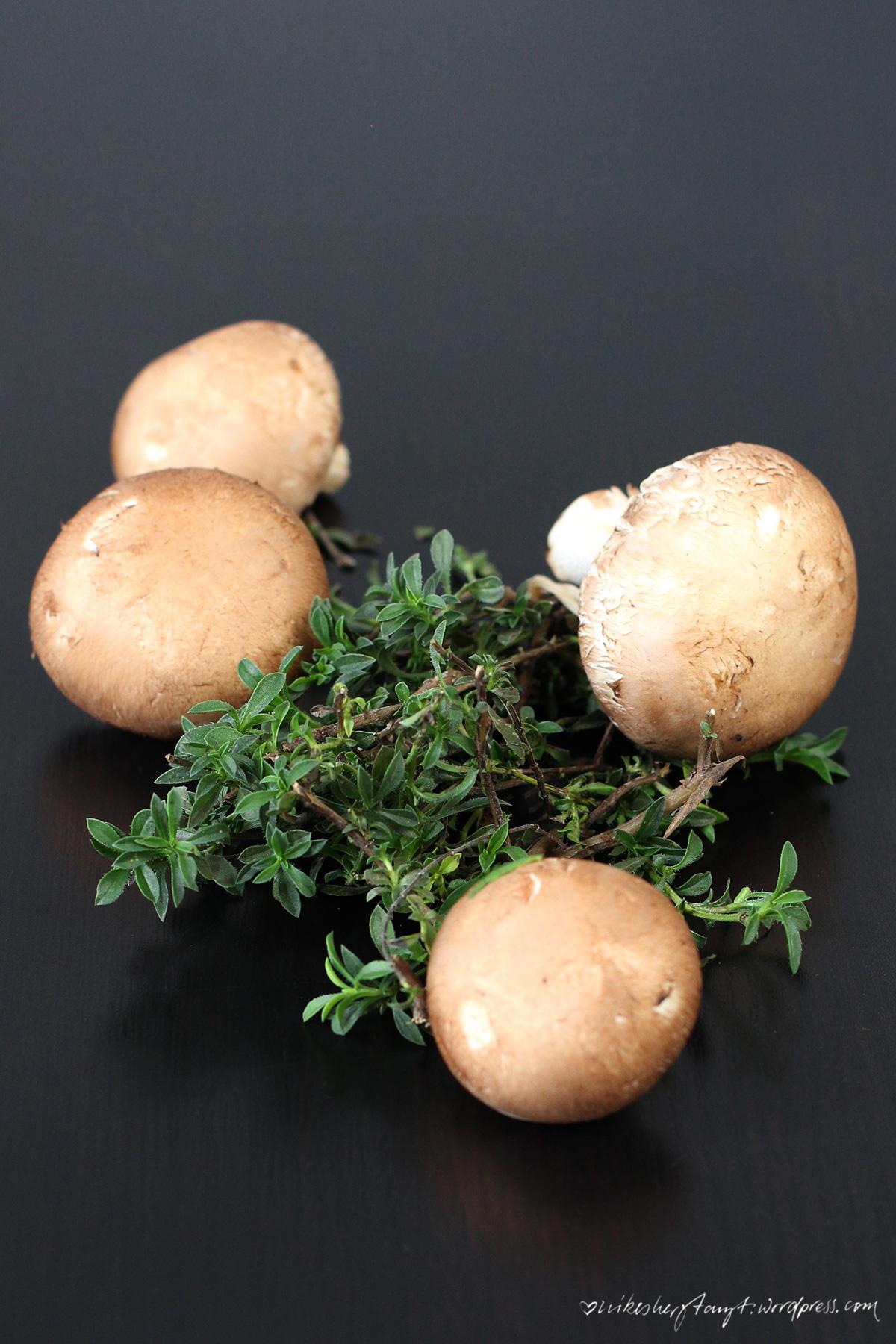 polenta stäbchen mit thymian champignons, nikesherztanzt