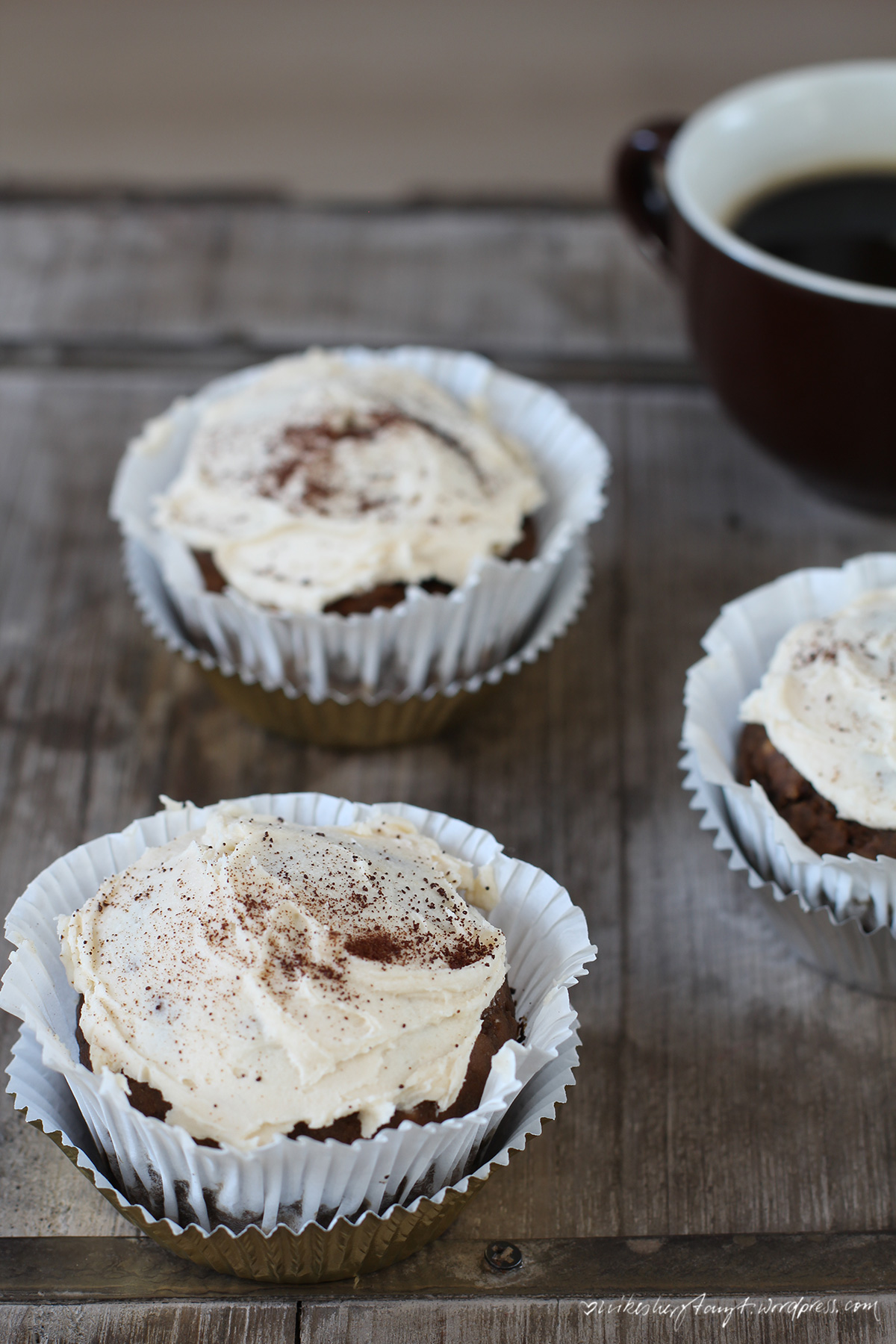 white russian cupcakes, vegan, nikesherztanzt