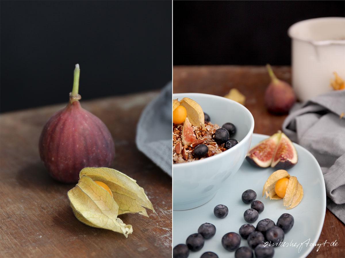 zuckerfrei ins neue jahr,buchweizen, porridge, buckwheat, blaubeeren, feigen, frühstück, breakfast, food, blog, nikesherztanzt