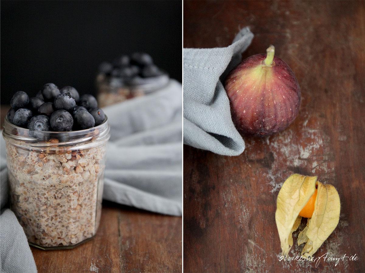 buchweizen porridge, buckwheat, blaubeeren, feigen, vegan, frühstück, breakfast, food, blog, nikesherztanzt