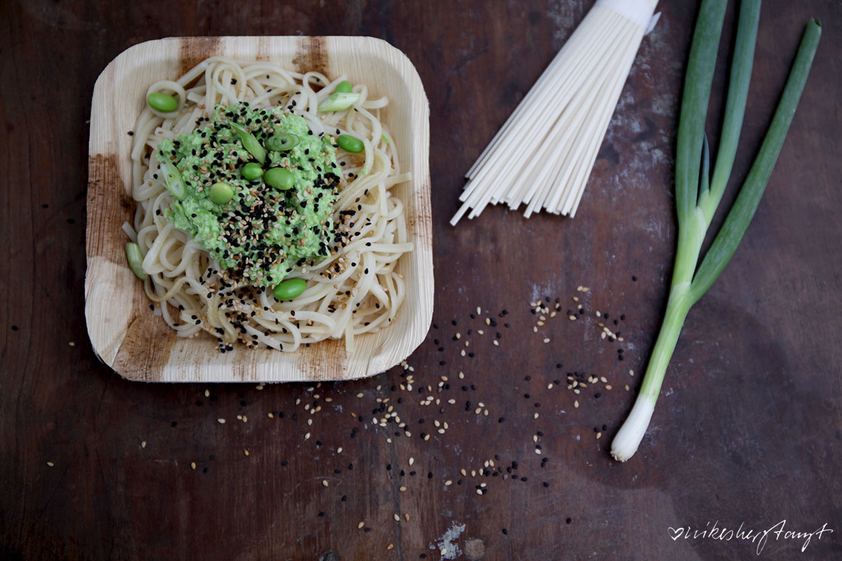 udon, nudeln, sesam, edamame, püree, vegan, veganfood, cleaneating, healthy, blog, nikesherztanzt