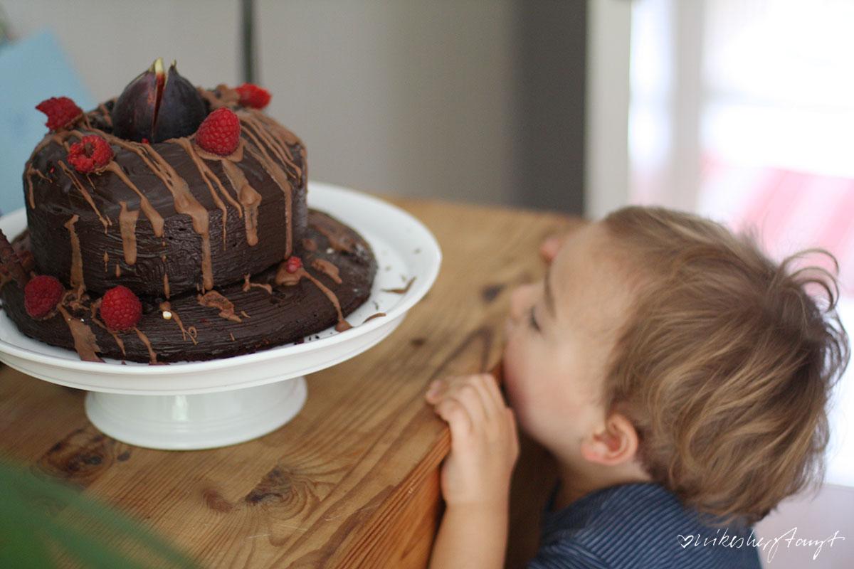 schokoladenkuchen, der schokoladigste, irgendwas mit schokolade, choc choc, nikesherztanzt, food, blog, feigen, himbeeren, pflaumen