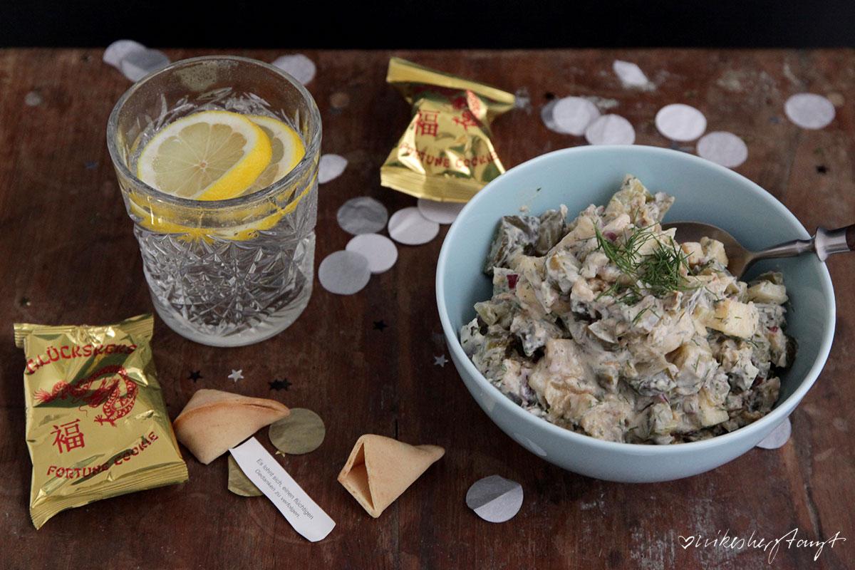 veganer Matjessalat mit Bratkartoffeln //nikesherztanzt
