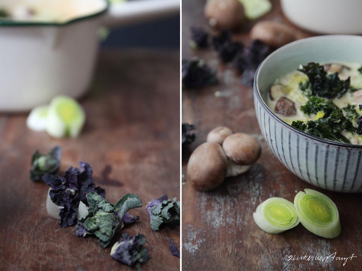 grünes thai curry. mit wirsing, grünkohl und lauch die perfekte vitaminbombe.