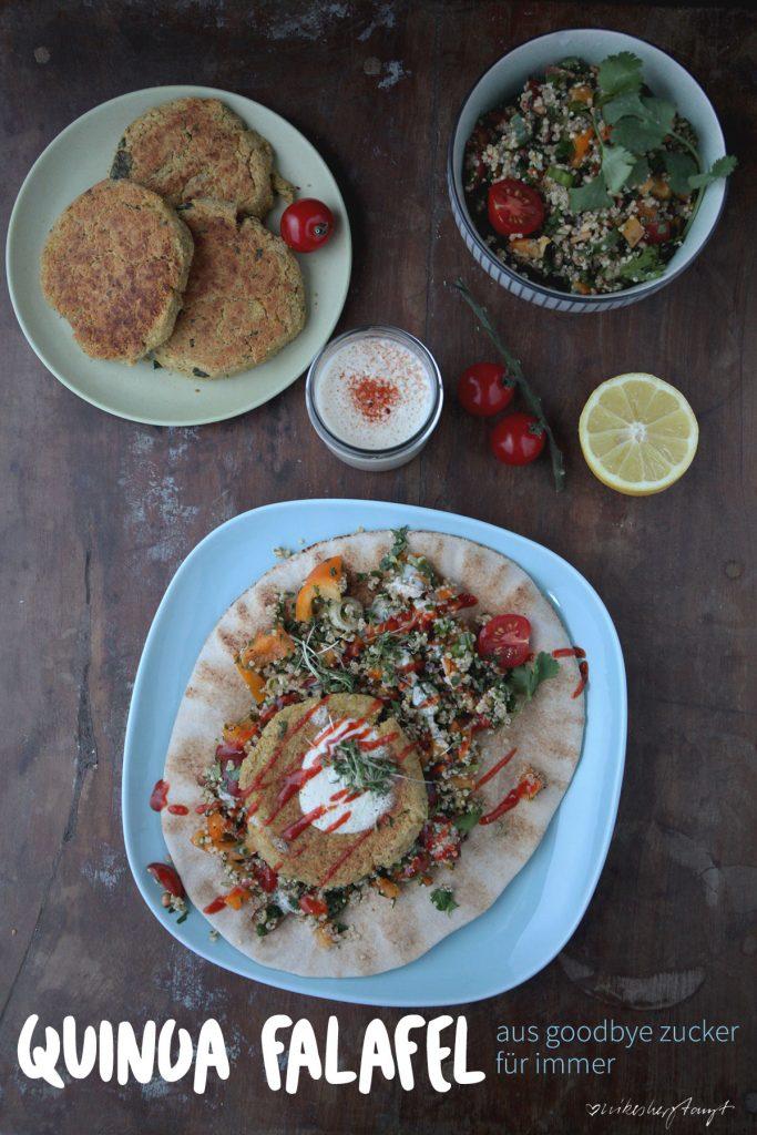 rezept für libanesische quinoa falafel aus goodbye zucker für immer von sarah wilson // food, blog, nikesherztanzt