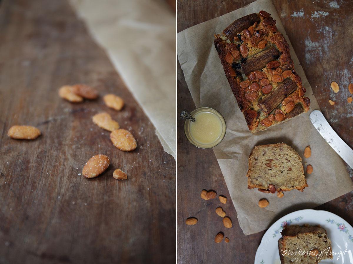bananenkuchen mit salzkaramell und mandeln, zucker zimt und liebe, backbuchliebe, jeannys lieblingskuchen,