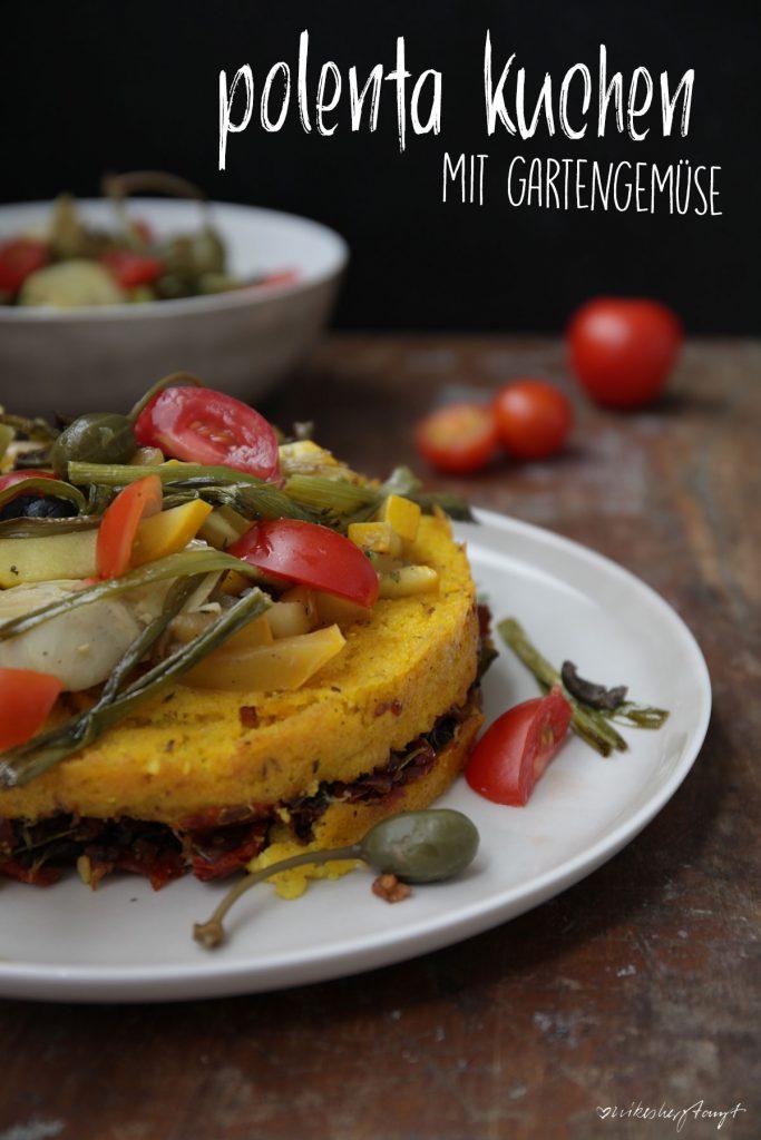 polenta kuchen mit gartengemüse // nikesherztanzt