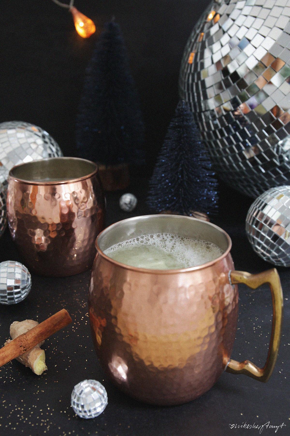 niederrhein grog mit ingwer & gin, glühgin im kupferbecher, nikesherztanzt