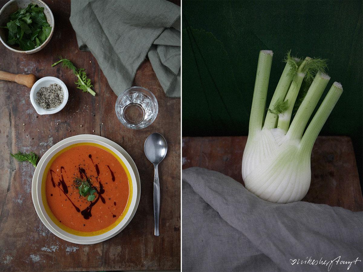 vegane tomaten-fenchel-suppe aus schnell und gesund kochen von veronika pachala // nikesherztanzt