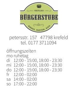 öffnungszeiten bügerstube, krefeld // nikesherztanzt, burger, fritten, bier, #nikeskrefeld, essen gehen in krefeld