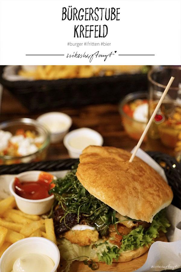 bügerstube, krefeld // nikesherztanzt, burger, fritten, bier, #nikeskrefeld, essen gehen in krefeld