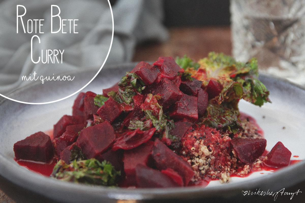 rote bete curry mit quinoa und flowersprouts auf keramikteller // nikesherztanzt
