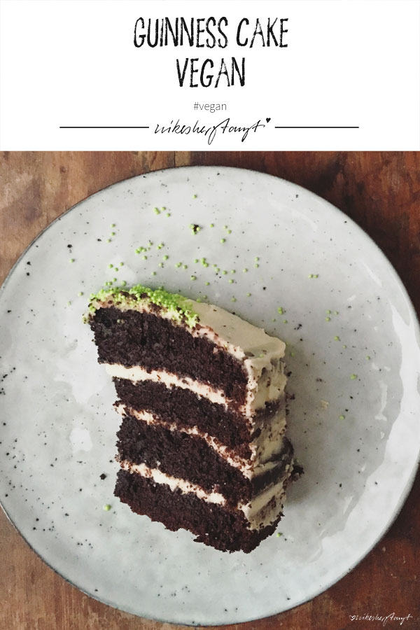 veganer guinness cake zum st. patrick´s day. // nikesherztanzt