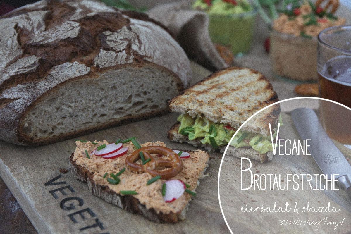 vegane brotaufstriche - eiersalat & obazda - doebbe urkruste - nikesherztanzt