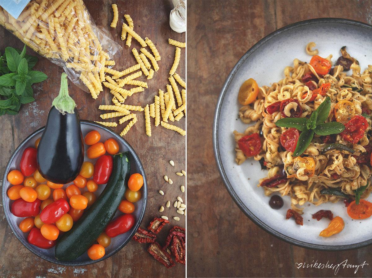 anti pasti pasta salat mit basilikum-dressing. // nikesherztanzt