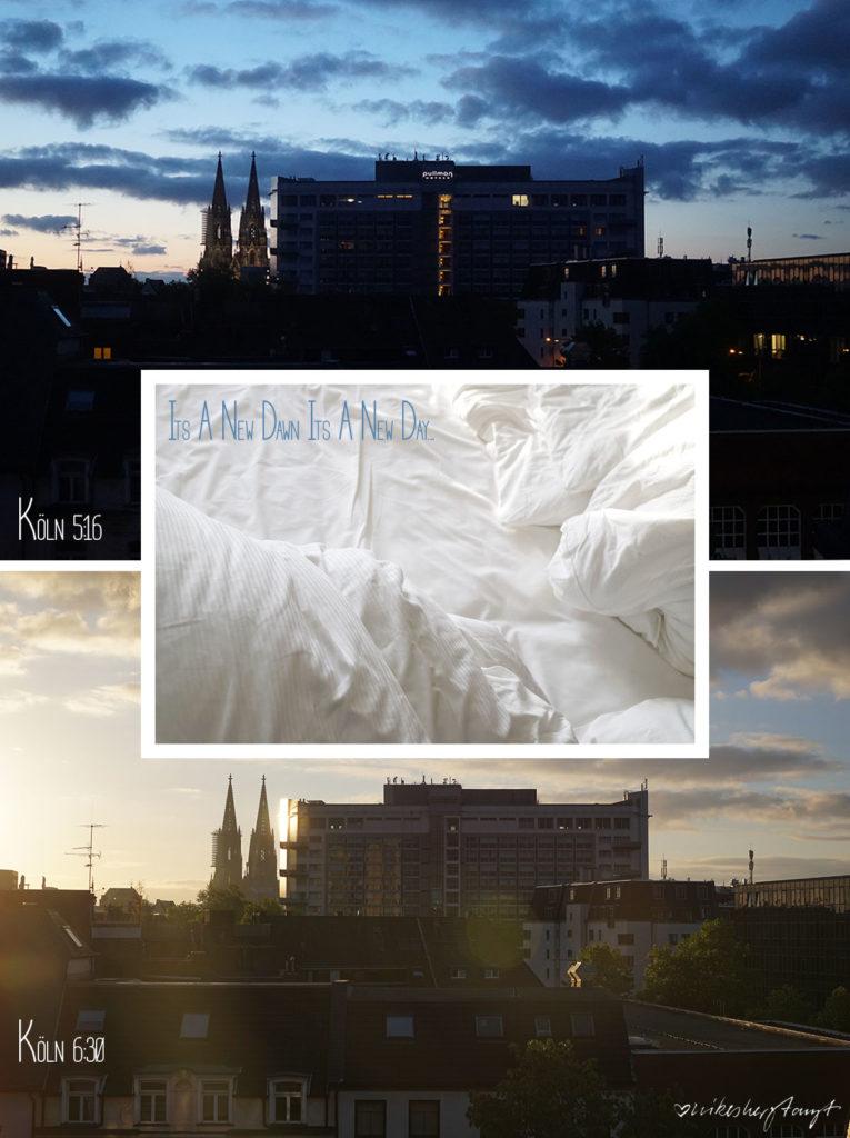 früh morgendlicher Blick aus dem Lindner Hotel City Plaza Köln auf den Dom// nikesherztanzt